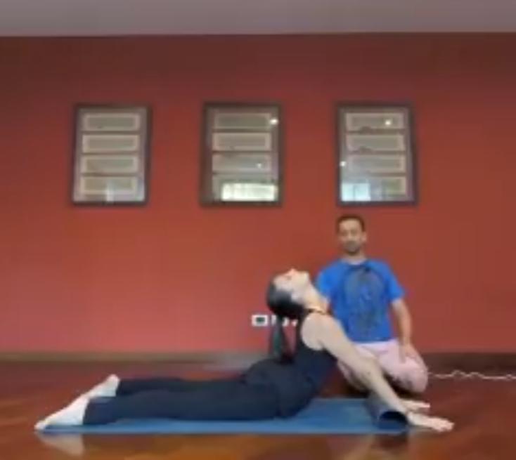 Lezione di yoga online